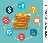 economic growth design  | Shutterstock .eps vector #399152218