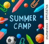 themed summer camp 2016 poster  ... | Shutterstock .eps vector #399153766