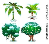 tropical trees and plants... | Shutterstock .eps vector #399163246