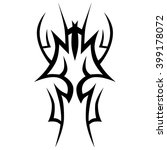 tattoo tribal vector design... | Shutterstock .eps vector #399178072