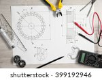 project drawing and digital... | Shutterstock . vector #399192946