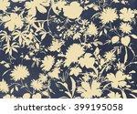 floral hand made design   Shutterstock . vector #399195058