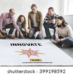 innovate create ideas... | Shutterstock . vector #399198592