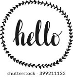 hello lettering in hand drawn... | Shutterstock . vector #399211132