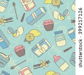seamless pattern with baking... | Shutterstock .eps vector #399217126