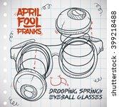drooping springy eyeball... | Shutterstock .eps vector #399218488