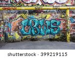 beautiful street art of... | Shutterstock . vector #399219115