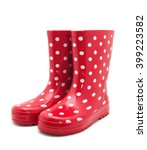 gumboots. isolated on white. | Shutterstock . vector #399223582