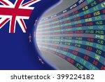 national flag of new zealand... | Shutterstock . vector #399224182