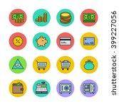 finance icons | Shutterstock .eps vector #399227056
