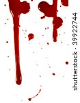 blood drops on a white... | Shutterstock . vector #39922744