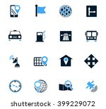 navigation icons | Shutterstock .eps vector #399229072