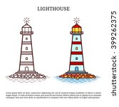 lighthouse. lighthouse vector... | Shutterstock .eps vector #399262375
