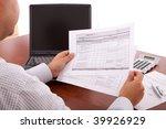 businessman reviewing the... | Shutterstock . vector #39926929