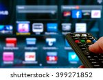 remote control interacting with ... | Shutterstock . vector #399271852