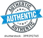 authentic blue round grunge... | Shutterstock .eps vector #399292765
