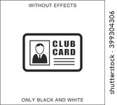 club card icon | Shutterstock .eps vector #399304306