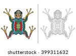 hand drawn doodle decorative... | Shutterstock .eps vector #399311632