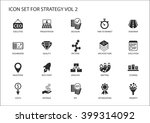 strategy icon set. various... | Shutterstock .eps vector #399314092