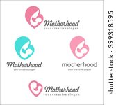 set of logos of motherhood and... | Shutterstock .eps vector #399318595