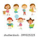Cute Happy Kids With Toys