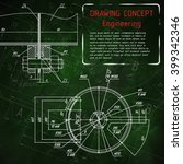 mechanical engineering drawings ... | Shutterstock .eps vector #399342346