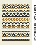 ethnic pattern elements... | Shutterstock .eps vector #399351805