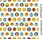 crowd of round flat people... | Shutterstock . vector #399356272