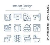 vector set of modern flat line... | Shutterstock .eps vector #399358282