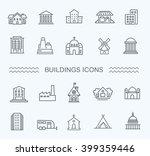 buildings icons set | Shutterstock .eps vector #399359446
