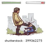 school boy fight | Shutterstock .eps vector #399362275