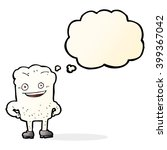 cartoon tooth looking smug with ... | Shutterstock .eps vector #399367042