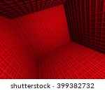 Abstract Red 3d Architecture...