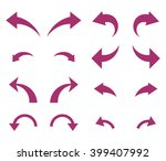 undo and redo vector icon set.... | Shutterstock .eps vector #399407992
