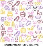 intim or sex shop colorful... | Shutterstock . vector #399408796