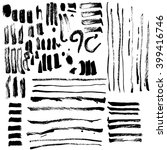 calligraphy brush stroke set... | Shutterstock .eps vector #399416746