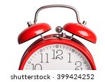 Red Alarm Clock Isolated On...