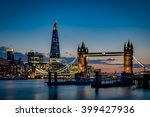tower bridge and the sky london ...   Shutterstock . vector #399427936
