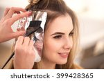 professional hairdresser dyeing ... | Shutterstock . vector #399428365