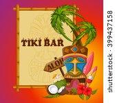 vector design of tiki bar... | Shutterstock .eps vector #399437158