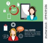 call center design  | Shutterstock .eps vector #399439186