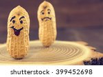 smile and sad face drawn on... | Shutterstock . vector #399452698