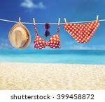 bikini. fashion swimsuit bikini ... | Shutterstock . vector #399458872