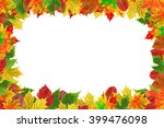 background with autumn colored... | Shutterstock . vector #399476098
