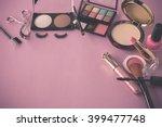 various makeup products on dark ...   Shutterstock . vector #399477748
