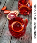 strawberry mojito cocktail on a ...   Shutterstock . vector #399479086