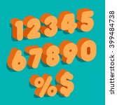 set of vector numbers  from 1... | Shutterstock .eps vector #399484738
