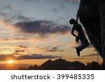 silhouette of athletic female... | Shutterstock . vector #399485335