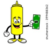 mustard with a dollar | Shutterstock .eps vector #399488362