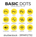 music waves flat icons set with ... | Shutterstock .eps vector #399491752